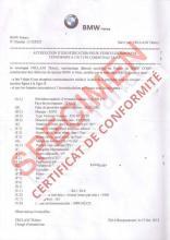 Certificat de Conformité BMW : Service Homologation Bmw